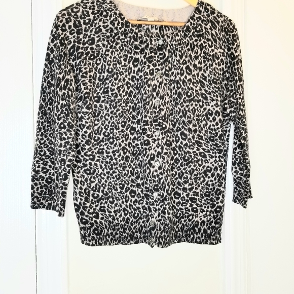LOFT Sweaters - Loft leopard leopard cardigan/sweater
